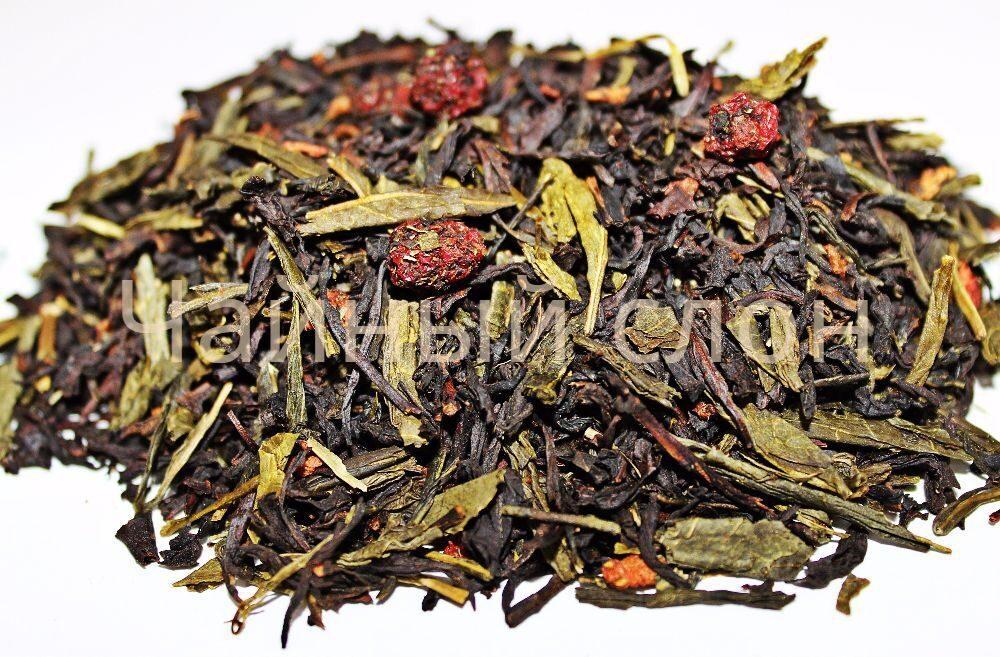 Смешанный зеленый и черный чай